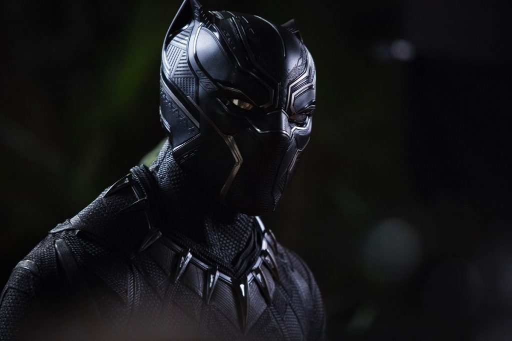 Black Panther, a man in a costume