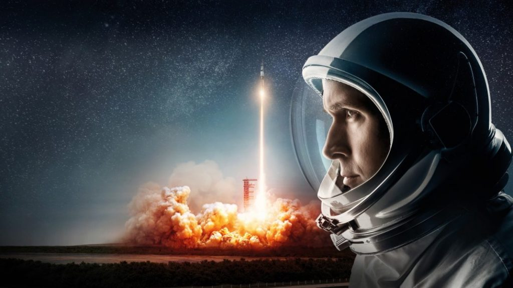 First Man, a man in a spacesuit