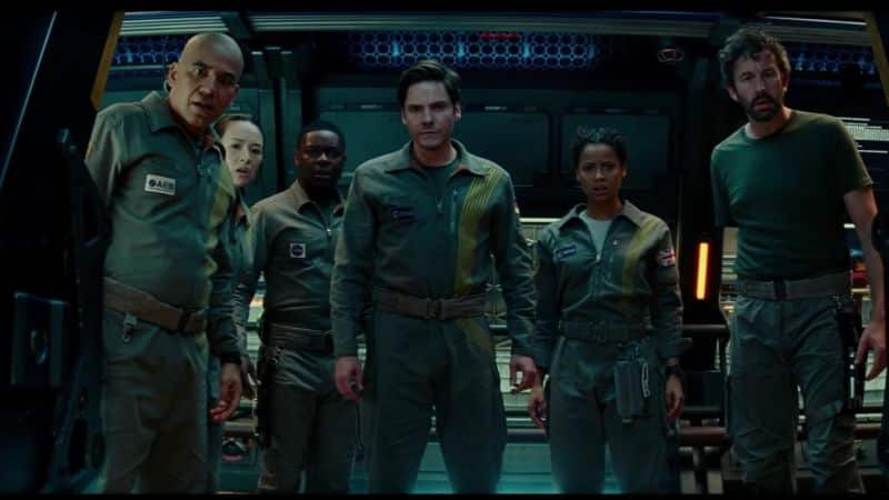 The Cloverfield Paradox, a group of uniformed people