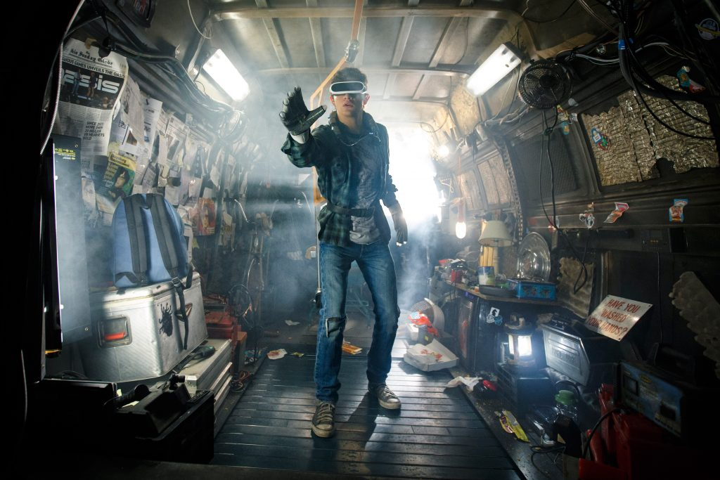 Ready Player One, the man is standing