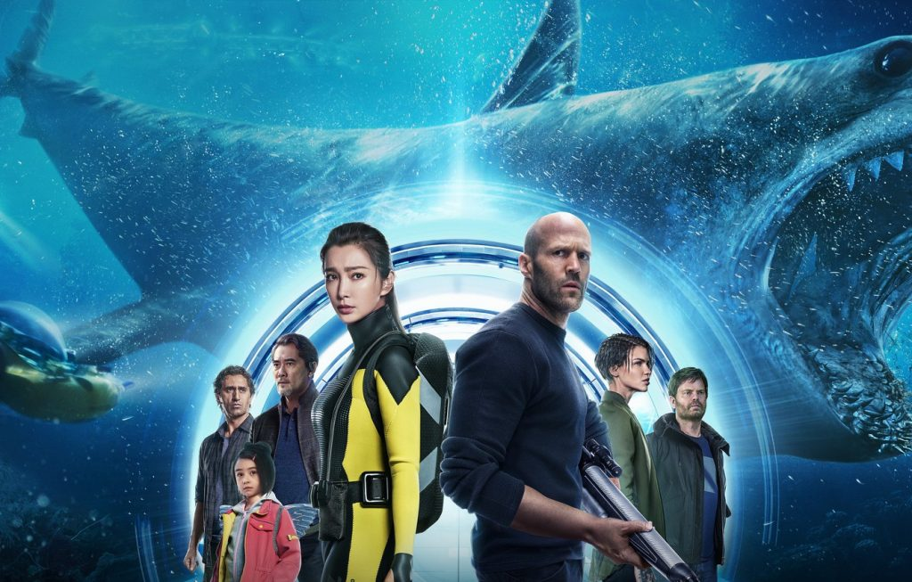 The Meg, a group of people in an underwater laboratory