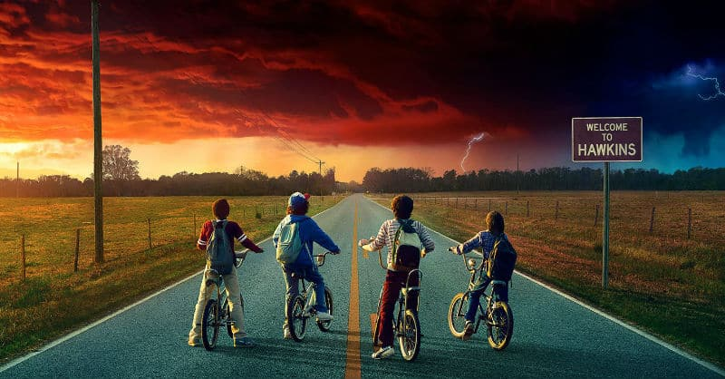 Stranger Things, four young people