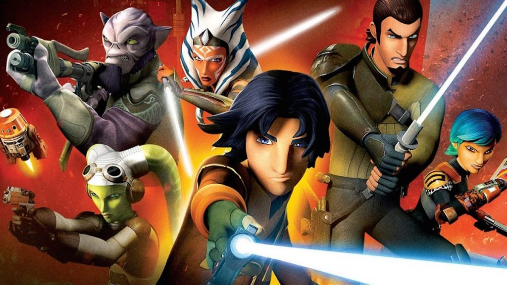 Star Wars: Rebels, group people with lightsabers and laser guns