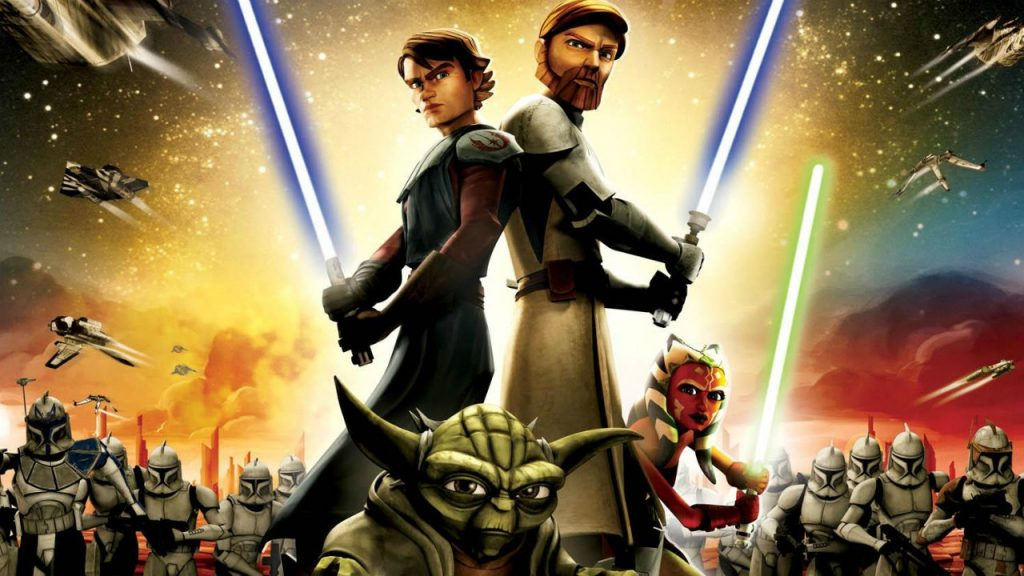 Star Wars The Clone Wars, Three people with lightsabers