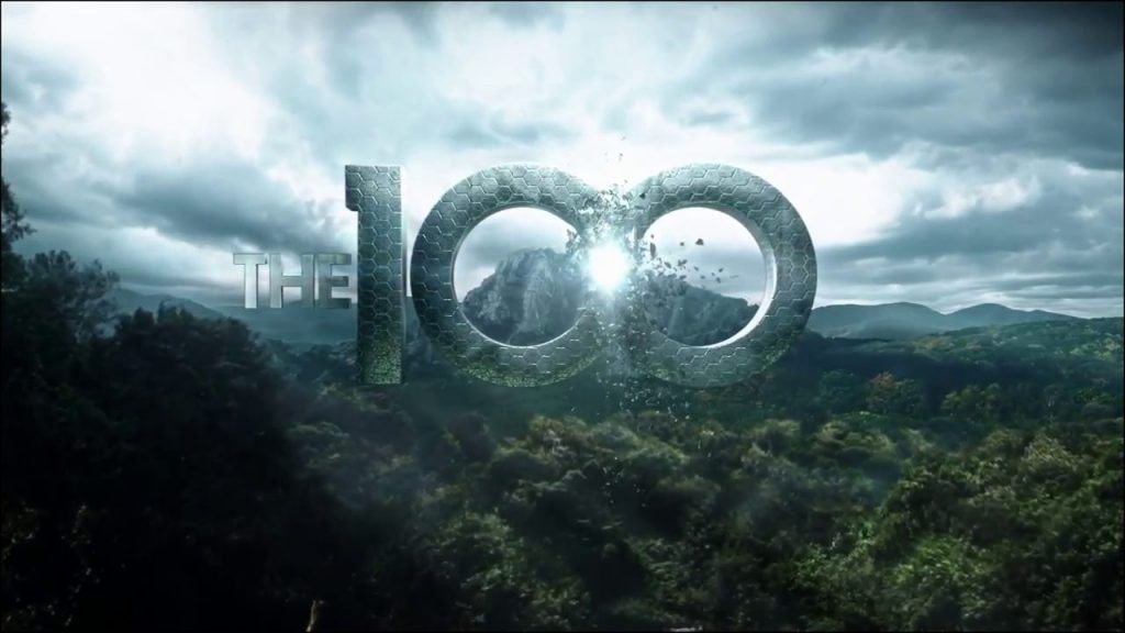 The 100, number one hundred in front of the forest and the mountain