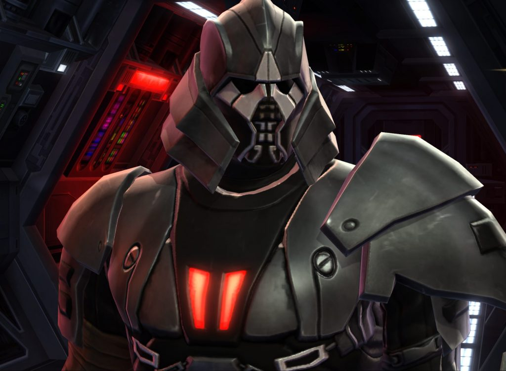 most powerful sith in Star Wars, a man with a helmet