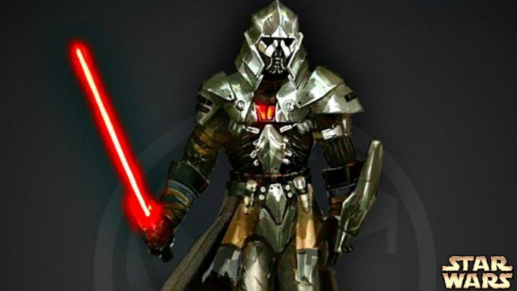 most powerful sith, a man with a helmet and a lightsaber