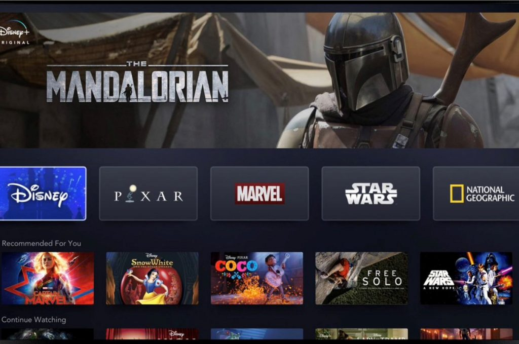 Disney+ man in helmet