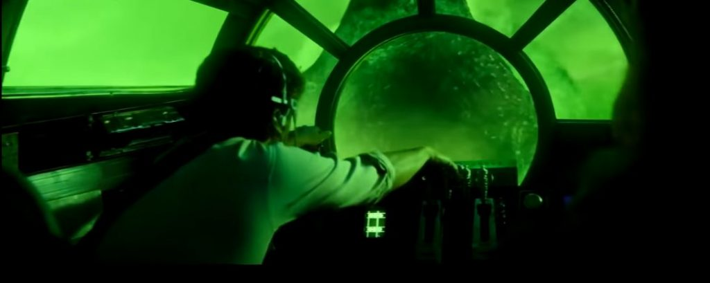 The Rise, man in the spaceship cockpit