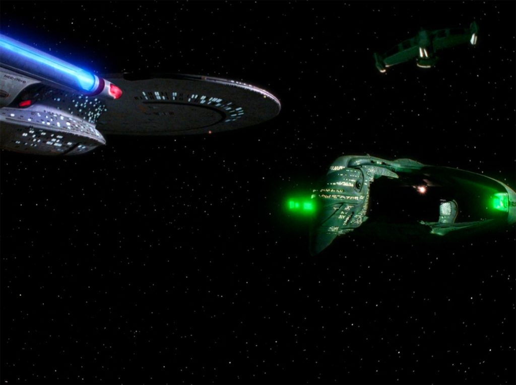 SciFi movies, two spaceships