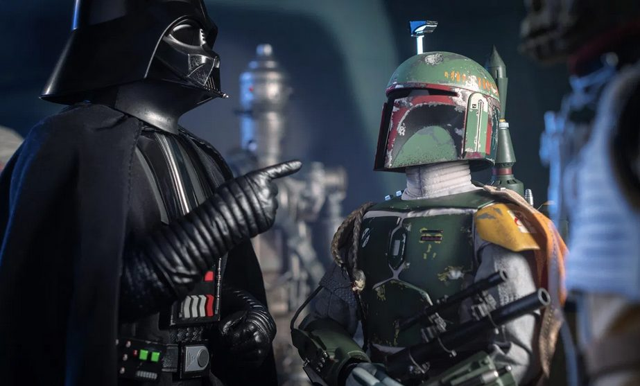 Boba Fett , two men with helmets