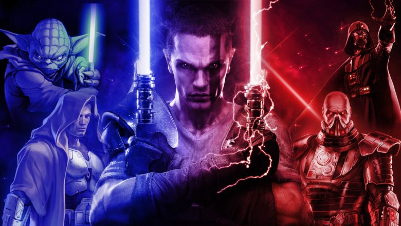 Most powerful Jedi, several men with lightsabers