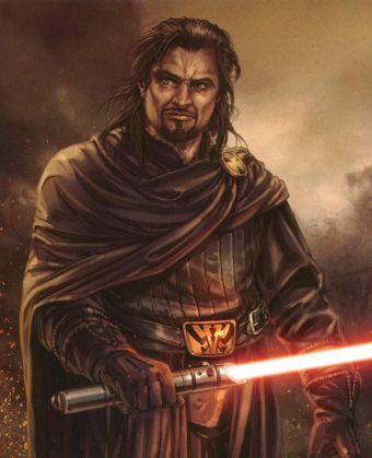 Most powerful Jedi, a man with lightsabers