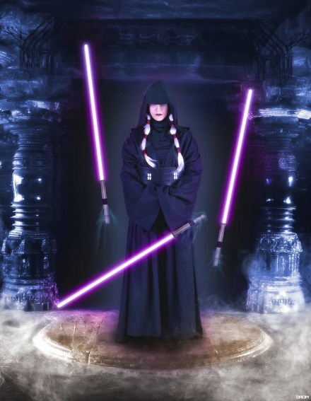 Most powerful Jedi, a woman with lightsabers