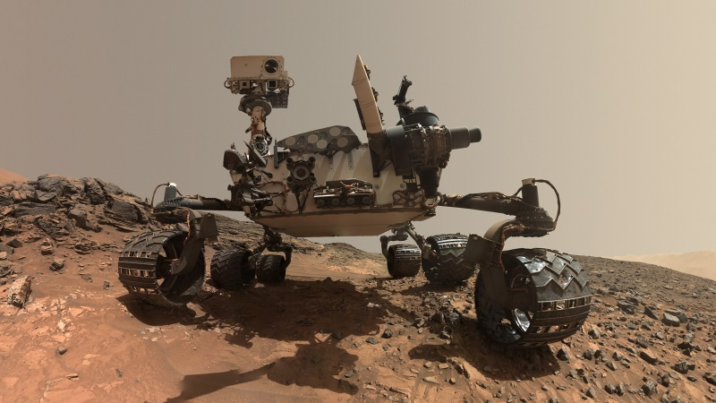 Mars rovers, a robot on a deserted planet