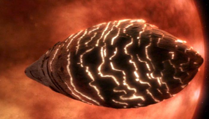 Star Trek egg-shaped spaceship
