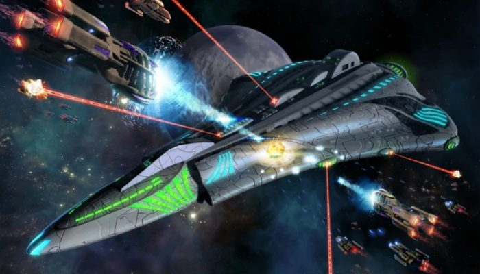 Several ships are fighting in Star Trek