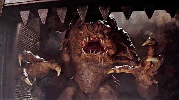 Movie monsters, a terrifying creature in a cave