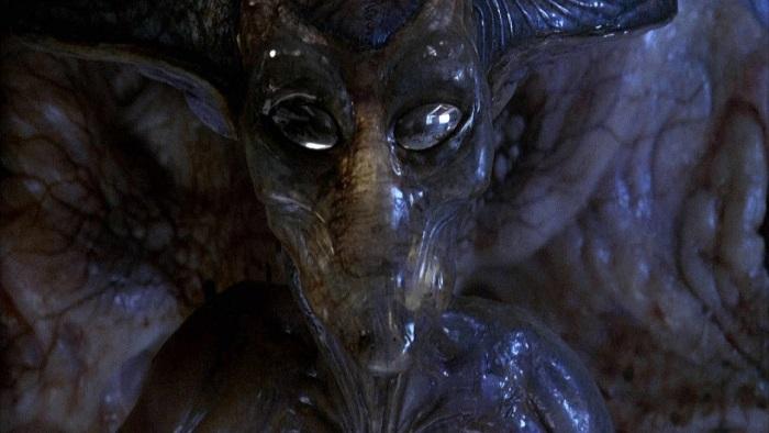 A slimy alien