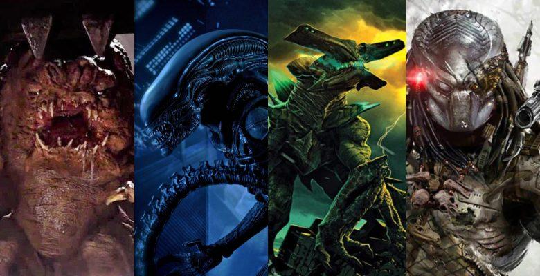 Several alien monsters